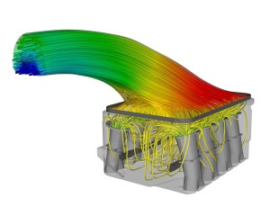 CFD simulation of an engine port using CFD software by TotalSim