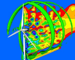 Simulation of a wind turbine using CFD
