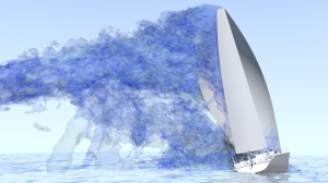 Simulation a yacht using CFD