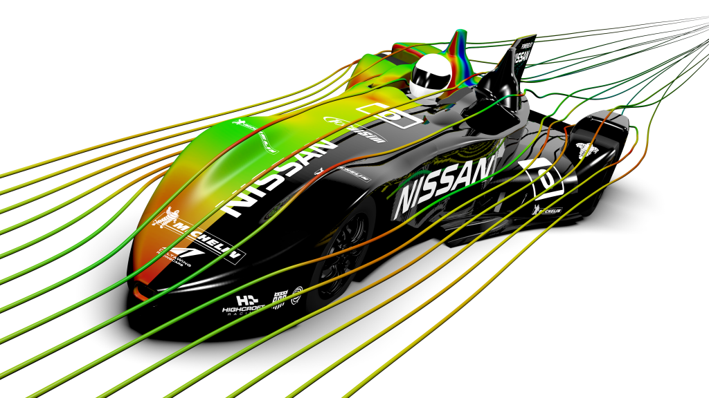 The Nissan Delta Wing went straight from CFD to full scale.