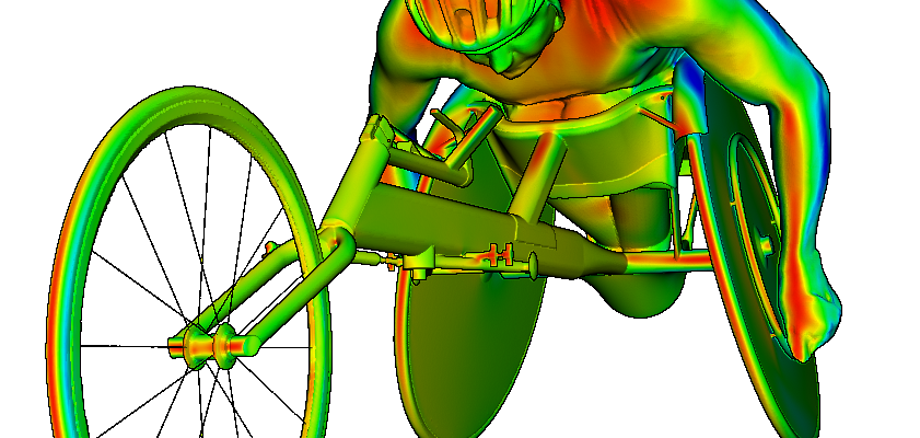 CFD simulation of David Weir the multiple gold medal winner.