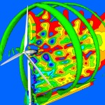 Flow simulation around a wind turbine using CFD