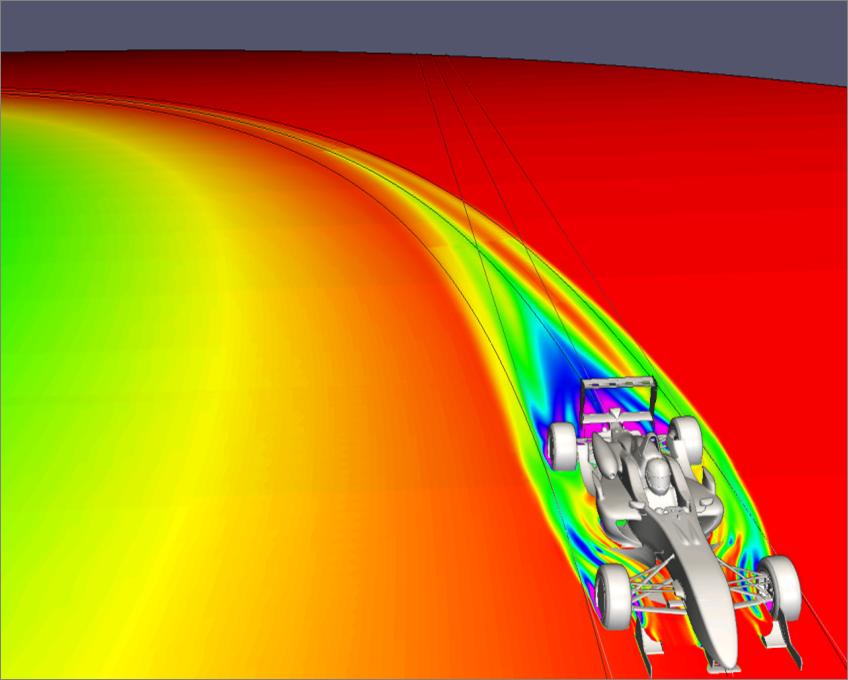 Cornering Flow in OpenFOAM® | Experts in CFD | TotalSim Ltd