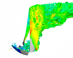 CFD Modelling of a Yacht using DES within OpenFOAM.