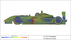 F3 CFD simulations showing streamlines and near wall velocity