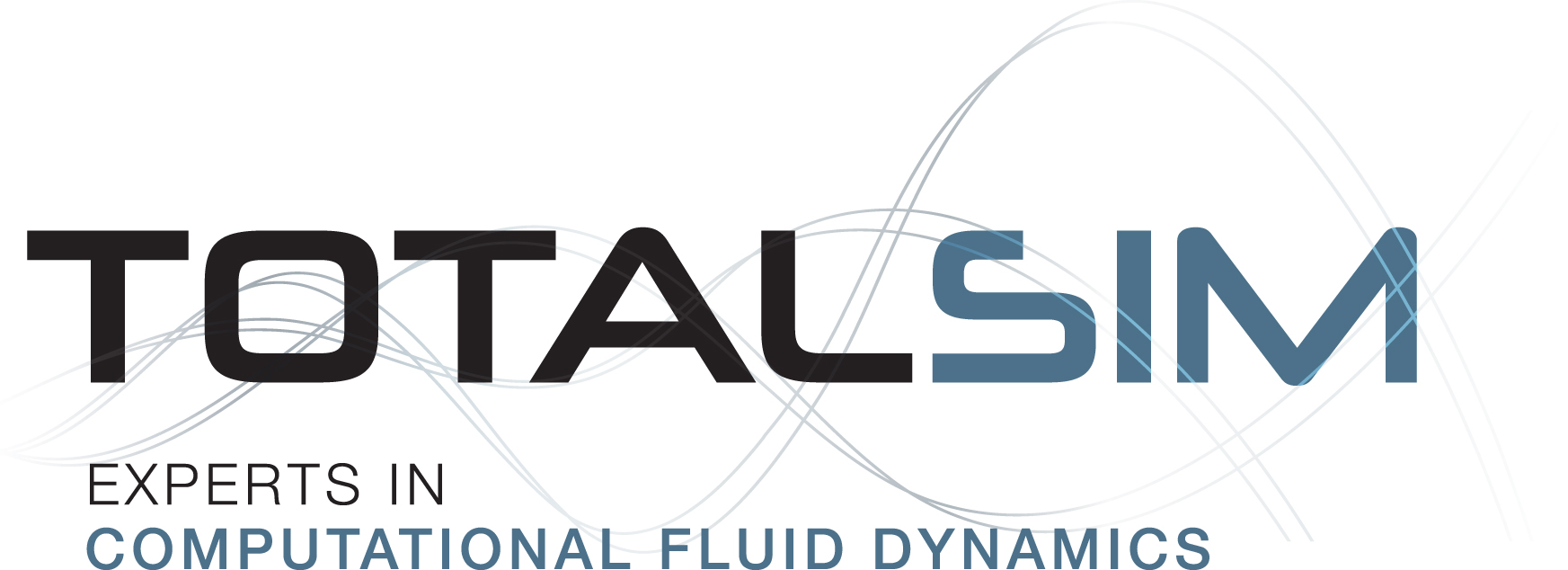 fluid dynamics logo. totalsim new logo - expterts in cfd. computational fluid dynamics | cfd c
