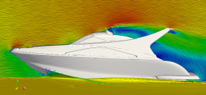 CFD analsysis of flow around a yacht and bridge deck.