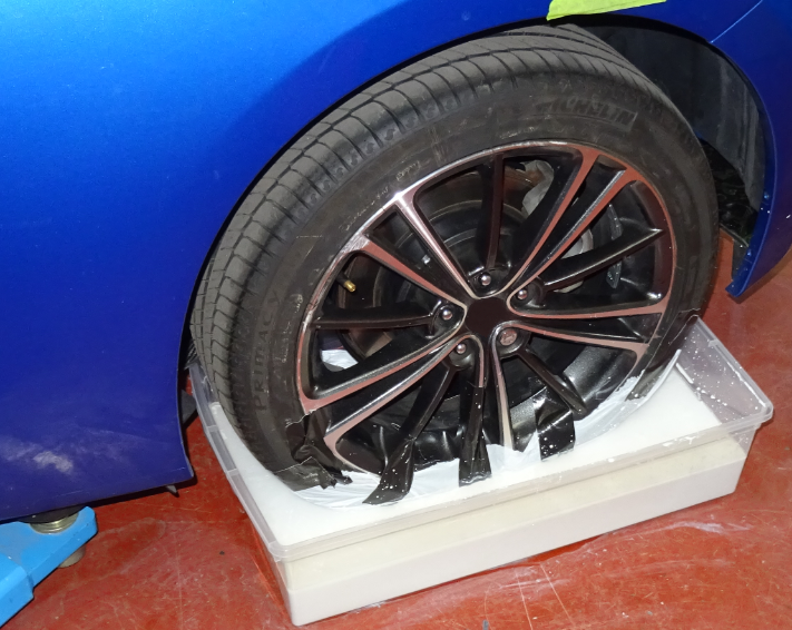 Tire Plaster Castings : D scanning tyre contact patches experts in cfd totalsim