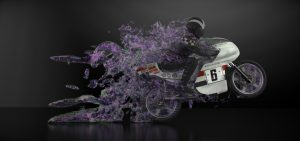 JPN Motorcycle CFD by TotalSim - Wheelie